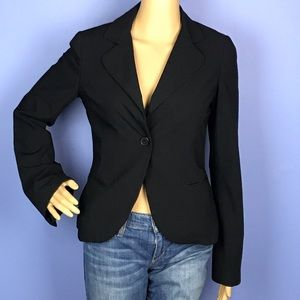 Black H&M Blazer with Peplum Back Pleats